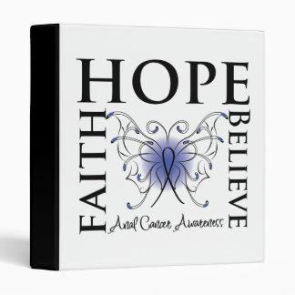 Hope Believe Faith - Anal Cancer Binder