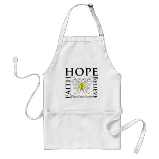 Hope Believe Faith - Bladder Cancer Aprons