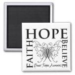 Hope Believe Faith - Brain Tumor Magnet