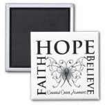 Hope Believe Faith - Carcinoid Cancer Refrigerator Magnet