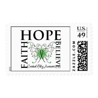 Hope Believe Faith - Cerebral Palsy Postage Stamps