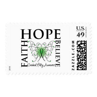 Hope Believe Faith - Cerebral Palsy Postage Stamp