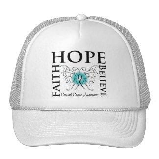 Hope Believe Faith - Cervical Cancer Hats