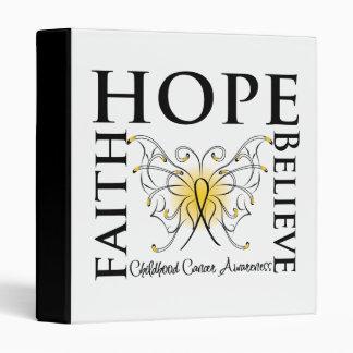 Hope Believe Faith - Childhood Cancer Binder