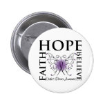 Hope Believe Faith - Crohn's Disease Pinback Button