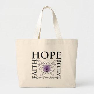 Hope Believe Faith - Crohn's Disease Large Tote Bag