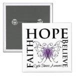 Hope Believe Faith - Cystic Fibrosis Button