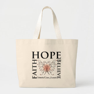 Hope Believe Faith - Endometrial Cancer Tote Bag