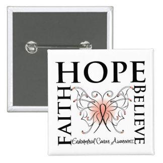 Hope Believe Faith - Endometrial Cancer Pins