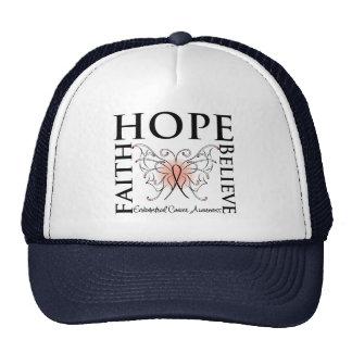Hope Believe Faith - Endometrial Cancer Hats