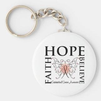 Hope Believe Faith - Endometrial Cancer Keychain