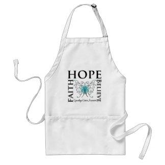 Hope Believe Faith - Gynecologic Cancer Adult Apron