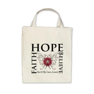 Hope Believe Faith - Head and Neck Cancer Canvas Bags
