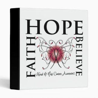 Hope Believe Faith - Head and Neck Cancer Binders