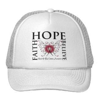 Hope Believe Faith - Head and Neck Cancer Trucker Hats