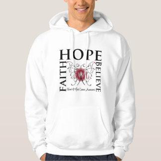 Hope Believe Faith - Head and Neck Cancer Hoodie