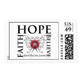 Hope Believe Faith - Head and Neck Cancer Postage