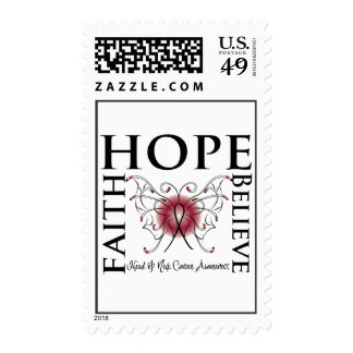 Hope Believe Faith - Head and Neck Cancer Stamps