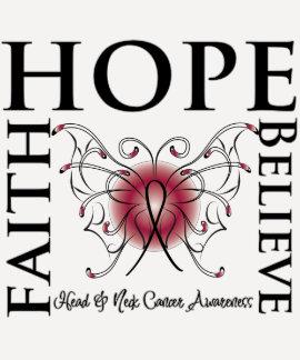 Hope Believe Faith - Head and Neck Cancer T-shirt