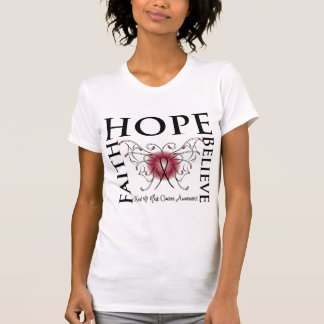 Hope Believe Faith - Head and Neck Cancer T-shirts