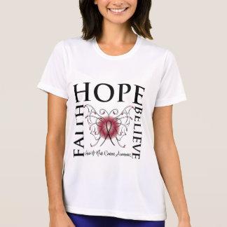 Hope Believe Faith - Head and Neck Cancer T Shirt