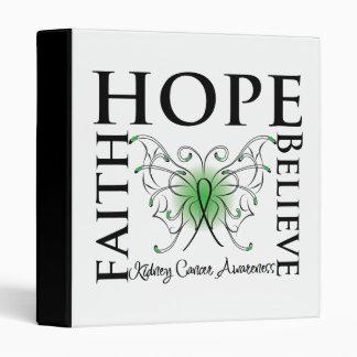 Hope Believe Faith - Kidney Cancer (Green) Vinyl Binders