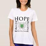 Hope Believe Faith - Kidney Cancer (Green) Tees