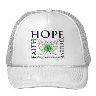 Hope Believe Faith - Kidney Cancer (Green) Trucker Hat