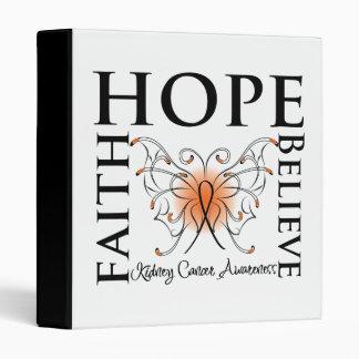 Hope Believe Faith - Kidney Cancer (Orange) 3 Ring Binders