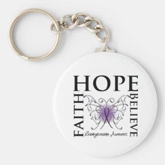Hope Believe Faith - Leiomyosarcoma Keychain