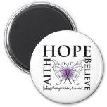 Hope Believe Faith - Leiomyosarcoma Refrigerator Magnet