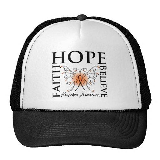 Hope Believe Faith - Leukemia Trucker Hat