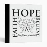 Hope Believe Faith - Lung Cancer 3 Ring Binder