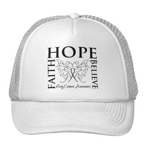 Hope Believe Faith - Lung Cancer Trucker Hat
