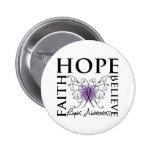 Hope Believe Faith - Lupus Button