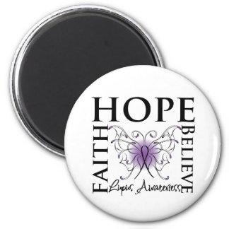 Hope Believe Faith - Lupus Fridge Magnets