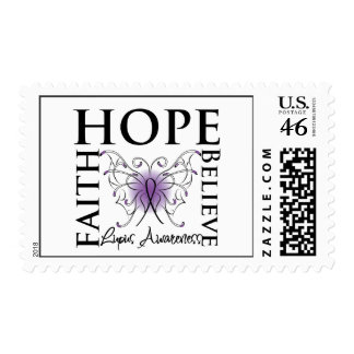 Hope Believe Faith - Lupus Postage Stamps