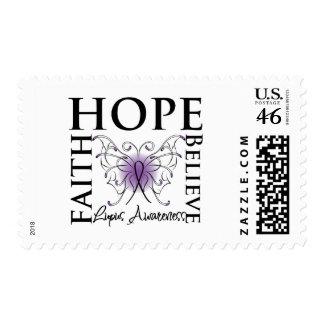 Hope Believe Faith - Lupus Postage Stamp