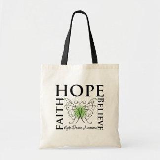 Hope Believe Faith - Lyme Disease Tote Bags