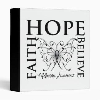 Hope Believe Faith - Melanoma Vinyl Binders