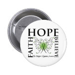 Hope Believe Faith - Non-Hodgkin's Lymphoma 2 Inch Round Button