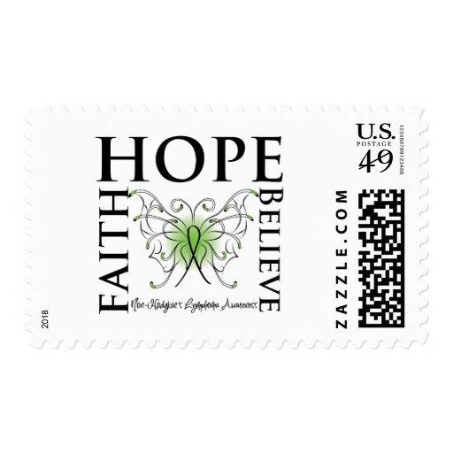 Hope Believe Faith - Non-Hodgkin's Lymphoma Stamp