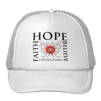 Hope Believe Faith - Oral Cancer Trucker Hat