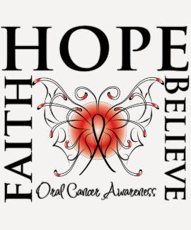 Hope Believe Faith - Oral Cancer T-shirt