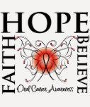 Hope Believe Faith - Oral Cancer Tshirts