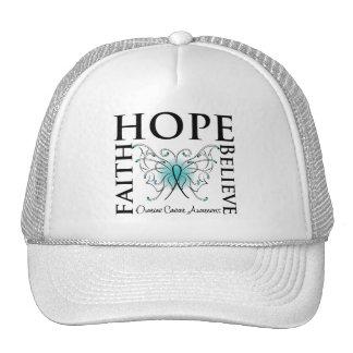 Hope Believe Faith - Ovarian Cancer Trucker Hat