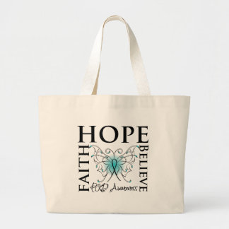 Hope Believe Faith - Polycystic Kidney Disease Large Tote Bag