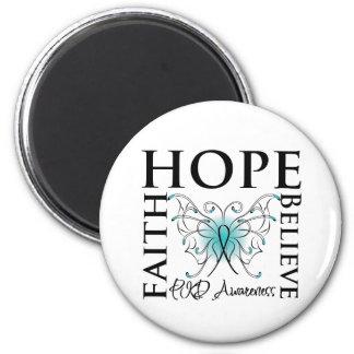 Hope Believe Faith - Polycystic Kidney Disease Fridge Magnet