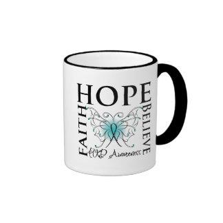 Hope Believe Faith - Polycystic Kidney Disease Coffee Mugs