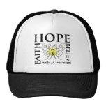Hope Believe Faith - Sarcoma Cancer Hat